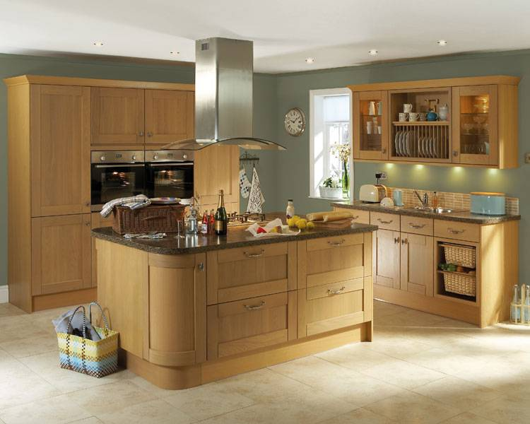Oak Cabinet Kitchen Phoenix Joinery Kitchens Tewkesbury Light Oak