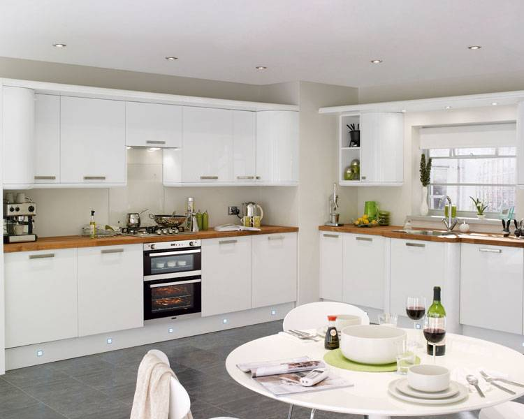 Clerkenwell Gloss White Kitchen Contemporary Kitchens Howdens Joinery Of 22 Original White Gloss