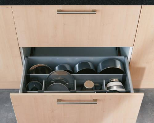 Pan Drawer with Divider Kit